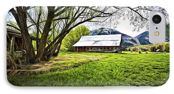 IPhone Case featuring the digital art Old Barn In Eden Utah by James Steele