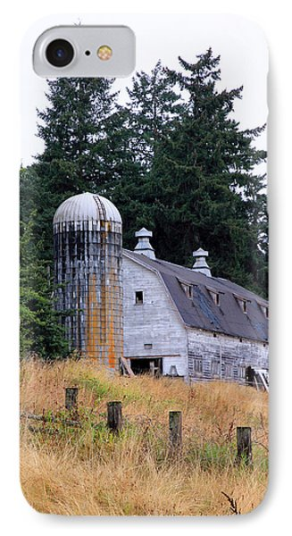 Old Barn In Field Phone Case by Athena Mckinzie