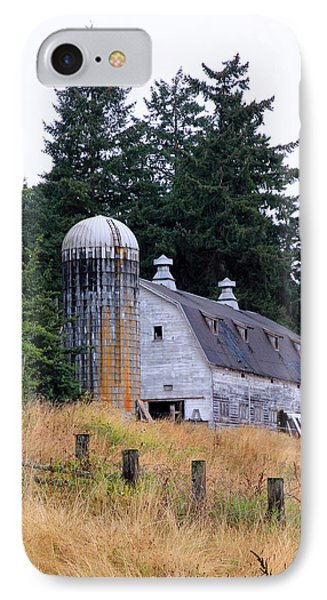 Old Barn In Field IPhone Case by Athena Mckinzie