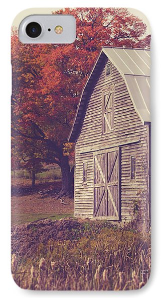 Old Barn In Vermont IPhone Case by Edward Fielding