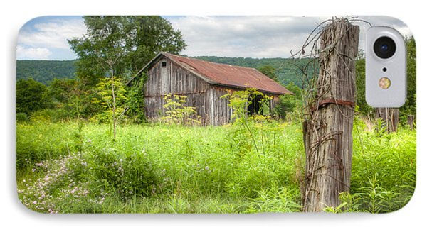 IPhone Case featuring the photograph Old Barn Near Stryker Rd. Rustic Landscape by Gary Heller