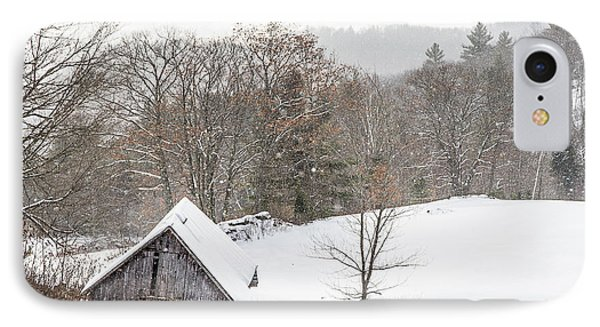 Old Barn On A Winter Day Wide View IPhone Case by Tim Kirchoff
