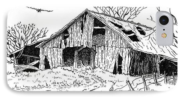 Old Barn IPhone Case by Shania Brown