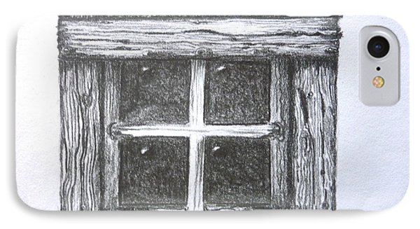 Old Barn Window IPhone Case by Diane Palmer