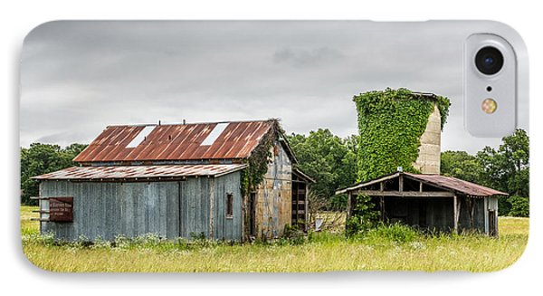 Old Barn With Vine Covered Silo IPhone Case by Paul Freidlund