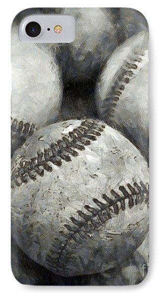 Old Baseballs Pencil IPhone Case