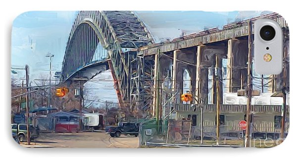 Old Bayonne Bridge Phone Case by Rod Pena