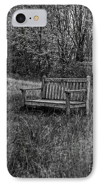 Old Bench Concord Massachusetts IPhone Case by Edward Fielding