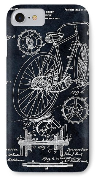 Old Bicycle Patent Illustration 1899 IPhone Case by Dan Sproul