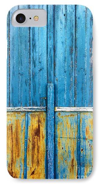 Old Blue Door Detail IPhone Case