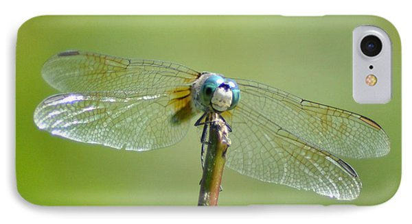 Old Blue Eyes - Blue Dragonfly Phone Case by Bill Cannon