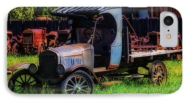Old Blue Ford Truck IPhone Case by Garry Gay