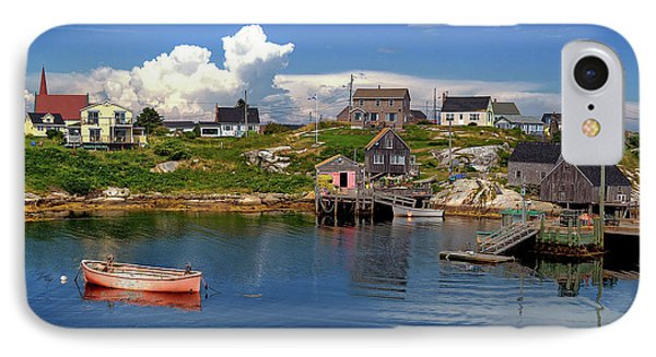 IPhone Case featuring the photograph Old Boat At Peggy's Cove by Rodney Campbell