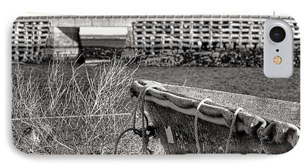 Old Boat At The Cribstone Bridge IPhone Case by Olivier Le Queinec