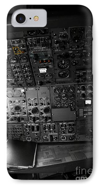 Old Boeing 727 Cockpit IPhone Case