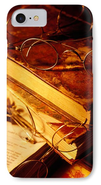 Old Books And Glasses Phone Case by Garry Gay