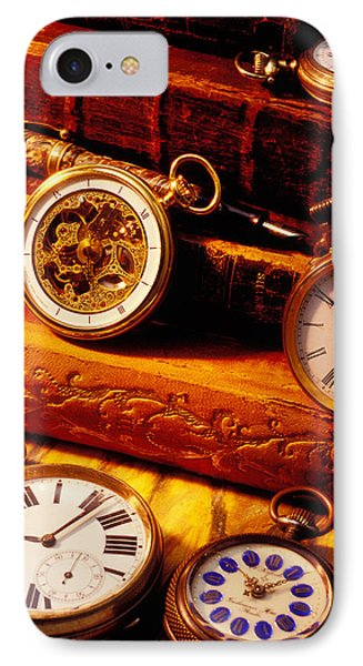 Old Books And Pocket Watches Phone Case by Garry Gay