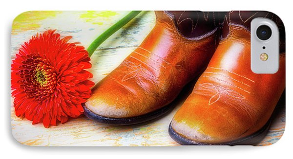 Old Boots And Daisy Phone Case by Garry Gay