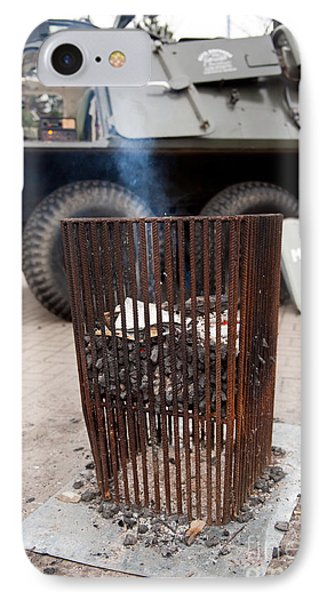 Old Brazier At 32nd Anniversary IPhone Case by Arletta Cwalina