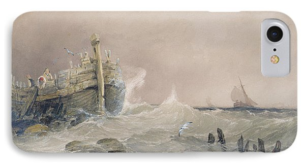 Old Breakwater IPhone Case by Charles Bentley