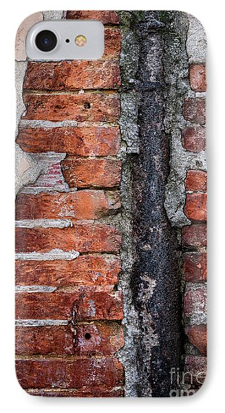 Old Brick Wall Fragment IPhone Case by Elena Elisseeva