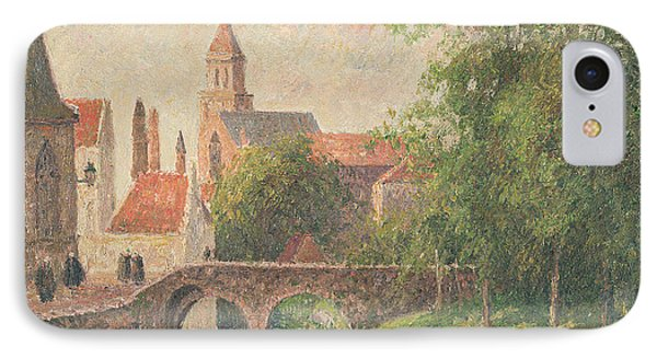 Old Bridge In Bruges  IPhone Case by Camille Pissarro