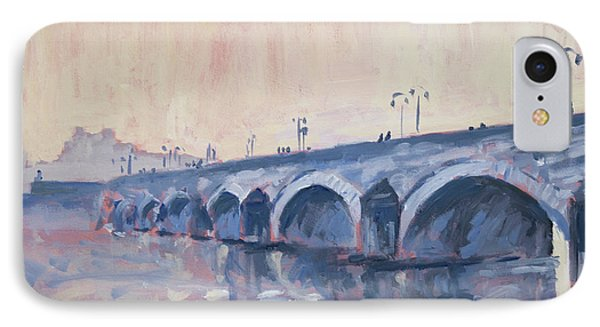 Old Bridge Of Maastricht In Warm Diffuse Autumn Light IPhone Case by Nop Briex