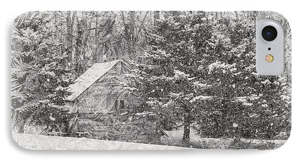 Old Cabin In Winter IPhone Case by Maria Dryfhout