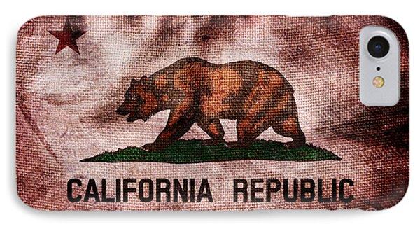 Old California Flag IPhone Case by Jon Neidert