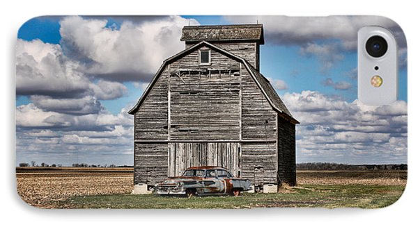 Old Car And Barn IPhone Case by Scott Nelson