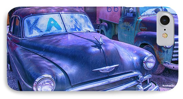 Old Car And Pickup Route 66 IPhone Case by Garry Gay