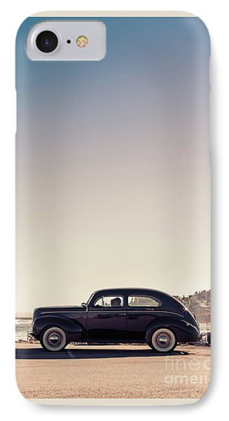 Old Car At The Beach IPhone Case by Edward Fielding