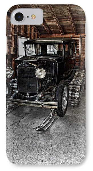 Old Car Snow Ski IPhone Case