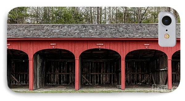 Old Carriage Shed Lyme New Hampshire IPhone Case by Edward Fielding
