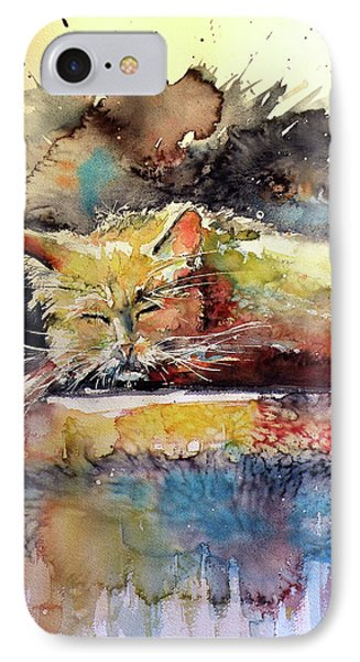 Old Cat Resting IPhone Case by Kovacs Anna Brigitta