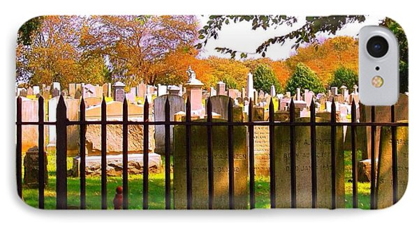 IPhone Case featuring the photograph Old Cemetary In Newport Rhode Island by Becky Lupe
