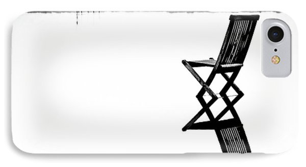 Old Chair In Calm Water IPhone Case by Gert Lavsen