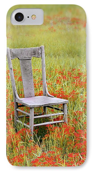 Old Chair In Wildflowers IPhone Case