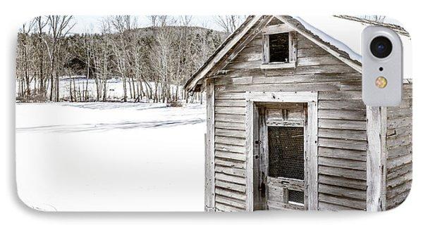 Old Chicken Coop In Winter IPhone Case