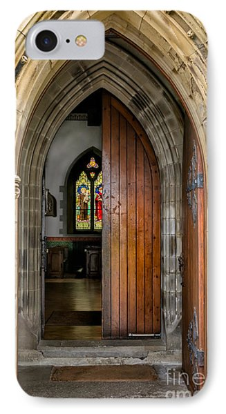 Old Church Entrance IPhone Case by Adrian Evans