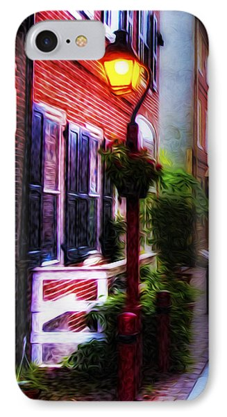 Old City Streets - Elfreth's Alley Phone Case by Bill Cannon