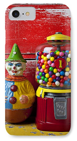 Old Clown Toy And Gum Machine  Phone Case by Garry Gay