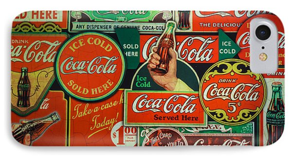 Old Coca-cola Sign Collage IPhone Case by Mitch Shindelbower