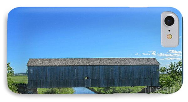 Old Covered Bridge IPhone Case by John Malone
