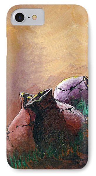 Old Cracked Pots-sold IPhone Case by Gary Smith