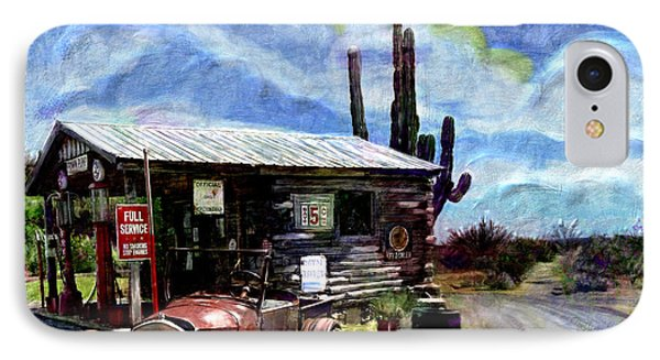 Old Desert Gas Station IPhone Case