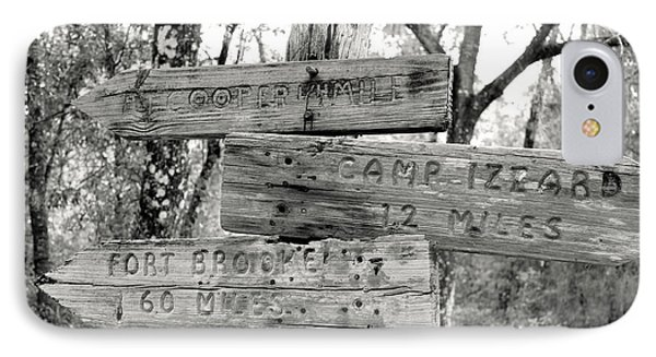 IPhone Case featuring the photograph Old Directional Signs At Fort Cooper  by Debra Forand