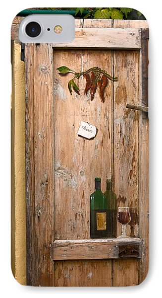 Old Door And Wine Phone Case by Sally Weigand