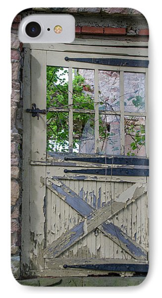 IPhone Case featuring the photograph Old Door From Bridgetown Millhouse Bucks County Pa by Bill Cannon