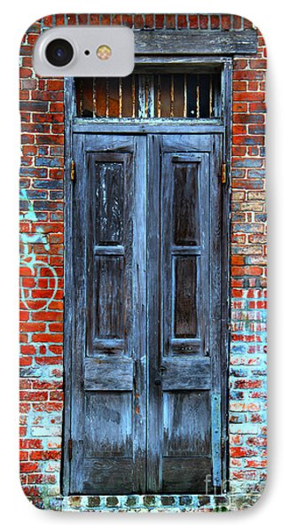 Old Door With Bricks IPhone Case by Perry Webster
